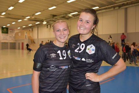 MORAL: Aurskog-Høland  HKs Johanne Morttjernet Kjernsholen (t.v.) og toppscorer Mina Simonsen sørget for å snu 11-17 til 26-21 mot Ull/Kisa. BEGGE FOTO: TRYM HELBOSTAD