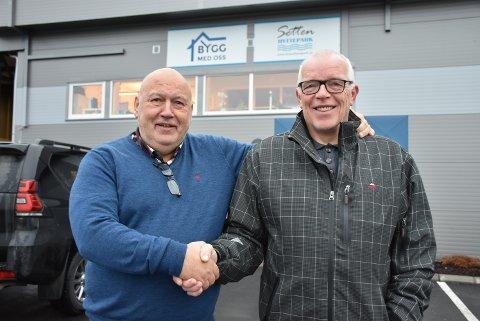 NY MEDARBEIDER: Daglig leder og medeier Knut Heggedal i Bygg med oss ser fram til å samarbeide med nyansatte Åge Sørlie.