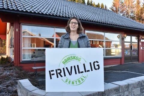 Annemieke van Middelaar er leder av Rømskog frivilligsentral. Snart går hun ut i permisjon. Foto: Trym Helbostad