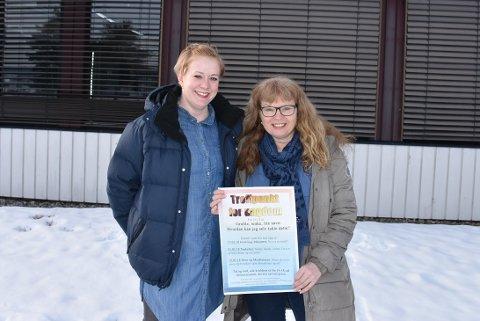 Psykisk helse: Helsesøster Jane Nadden og Spesialsykepleier Lise Falang-Petterson skal hjelpe ungdom å mestre bekymringer og stress i hverdagen.