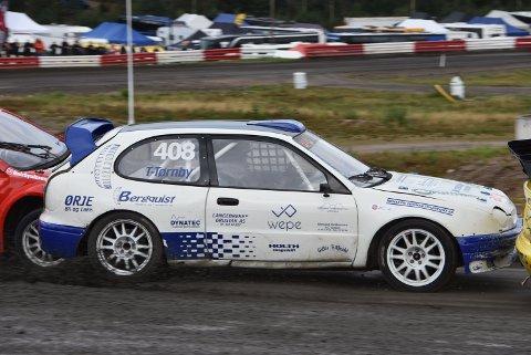 Thomas Tørnby fra Rømskog avslutter neste rallycross-sesong på Finnskogbanen. Arkivfoto: Trym Helbostad