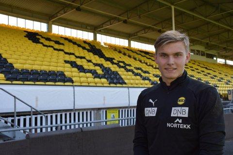 Mads Hedenstad Christiansen fra Fet spiller til daglig for Lillestrøm SK. Nå forbereder 18-åringen seg til EM-kvalik om en måneds tid. Arkivfoto: Trym Helbostad