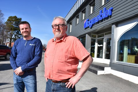 Ragnar Lysaker etablerte møbelforretningen for over 40 år siden. Nå er det sønnen Christian som driver videre i Aursmoen sentrum. Arkivfoto: Trym Helbostad