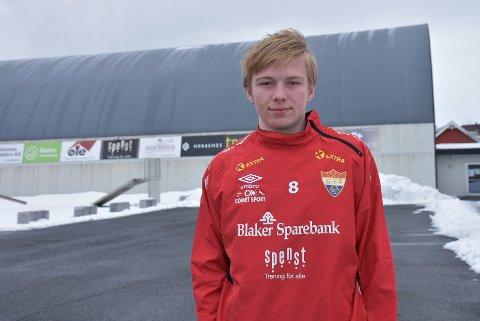 17-åringen Ola Jødahl scoret to da et ungt Sørumsand 2 vant 6-3 borte mot Dalen torsdag. Foto: Trym Helbostad
