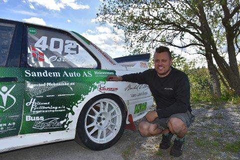 – Nå er det viktigere å gjøre det bra i innledende runder, og mindre viktig å gjøre det bra i en eventuell a-finale, sier Hans-Jøran Østreng som er klar for helgens NM-runde i rallycross i Melhus. Foto: Trym Helbostad