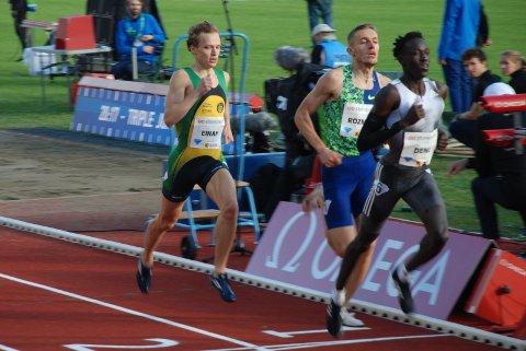PÅ RETT VEI: Markus Einans Bislett-løp på 800 meter viste en betryggende utvikling en måned før ungdoms-EM i Sverige.