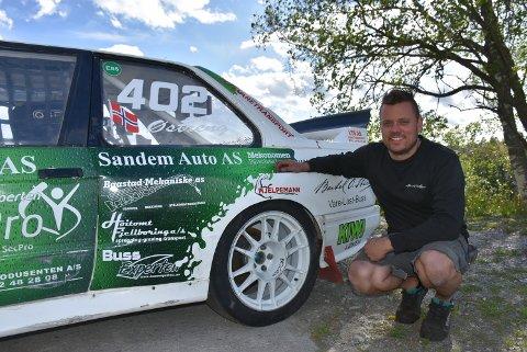 Etter lørdagens kjøring, leder Hans-Jøran Østreng klasse 4 i den andre NM-runden. Foto: Trym Helbostad