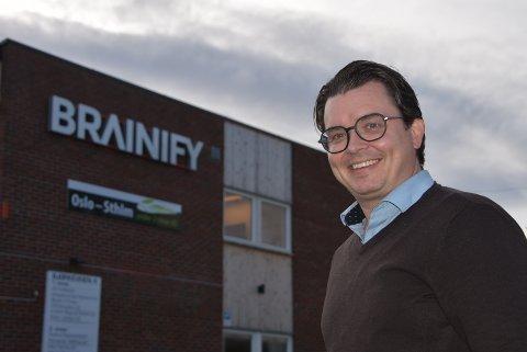 Johannes Holmedahl gir seg som daglig leder i Brainify. Arkivfoto: Trym Helbostad