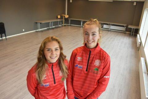 Anine Sveum (t.v.) og Anna Olberg Skaret starter treningstilbud for danse- og turninteresserte barn i alderen 8-12 år i det nye klubbhuset til Bjørkelangen Sportsforening. Foto: Trym Helbostad