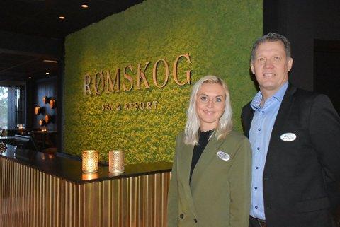May-Therese Halvorsen og Niclas Norman ved Rømskog Spa & Resort melder om et par avbestillinger av konferanser som en følge av korona-viruset. Arkivfoto: Trym Helbostad