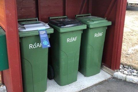Søppeldunkene vil fortsatt tømmes, men ROAF stenger sine gjenvinningsstasjoner fra 14. mars. Foto: ROAF