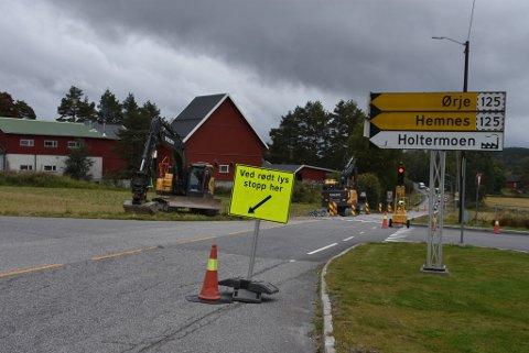 Opprustingen av fylkesvei 115 er i gang igjen.