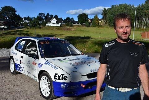 – Det blir godt å komme i gang, sier Thomas Tørnby (40) fra Rømskog som kjører den første av tre NM-runder førstkommende lørdag. Foto: Trym Helbostad