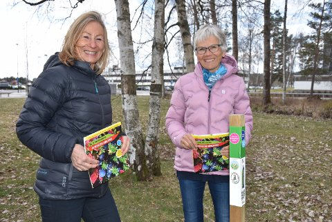 Anne Ki Fagerli (t.v.) og Ellen S. Karset gleder seg til stolpejakta i Aurskog-Høland starter 6. mai. Foto: Trym Helbostad