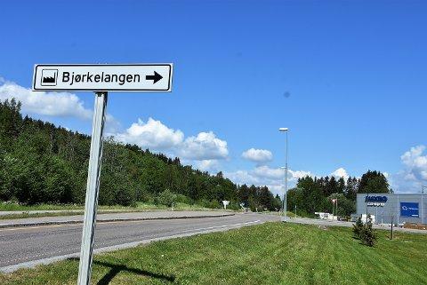 Før utbyggingen av Bliksrudåsen, til venstre i bildet, kan starte, må partene bli enige om en adkomstløsning fra fylkesvei 170. Det er foreløpig i det blå. Foto: Trym Helbostad