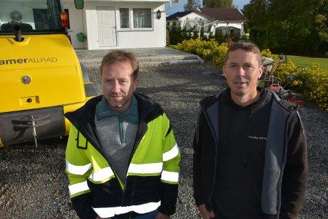 Brødreparet Thomas (t.v.) og Espen Tørnby starter opp firma sammen. Foto: Trym Helbostad