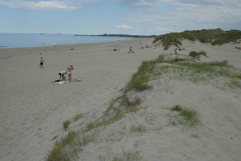 SÅRBART: Jærstrendene er blant de mest brukte friluftsområdene i Rogaland. Dette bildet er fra Borestranda.