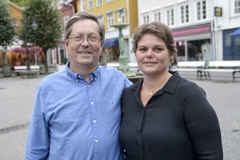 DAGLIG LEDER: Janna Pihl blir daglig leder i Næringsforeningen, her sammen med styreleder Jan Petter Abrahamsen.