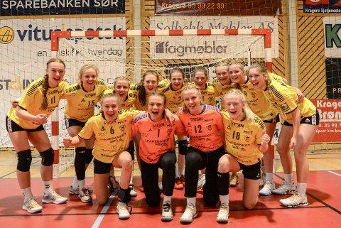 Onsdag sikret Kragerø 16-årsjenter seriemeterskapet.