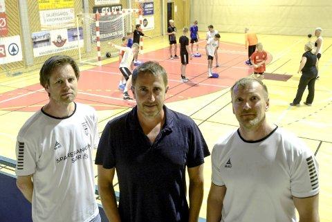 Trenere: Pål Ask, Simen Muffetangen og André Sætheren utgjør Kragerøs nye trenerteam.
