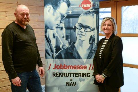 JOBBMESSE: Petter Hareide og Birgitte Brataker ønker velkommen til Jobbmesse onsdag.