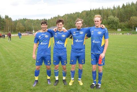 Målteft: Audun Øygarden, Ole Martin Øygarden, Jon-Reidar Haugland og Simen Rosland gjorde til sammen seks mål mot Vold.