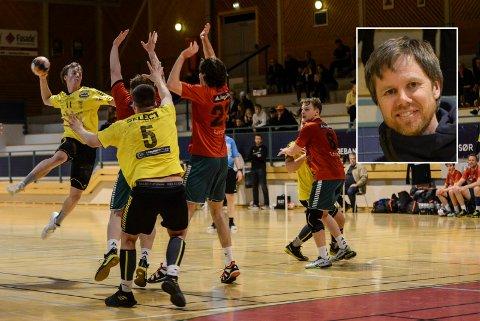 MÅ VENTE: Det er uklart når håndballen kan starte treninger og kamper som normalt igjen. Pål Ask i innfelt foto.