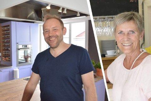 FÅR SKJENKE: Daglig leder Stig Lieberg ved Nordraaks matverksted & gjestehus og innehaver Heidi Felle ved Galleri bak fasaden fikk innvilget skjenkesøknadene sine.