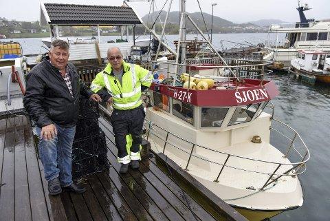 Brørne Kjell Henning Sjo (t.v.) og Atle Sjo er skuffa over behandlinga frå Alsaker-konsernet.