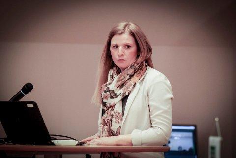 ENGASJERT: Anne Marit H. Kofstadmoen på talerstolen under spørretimen.