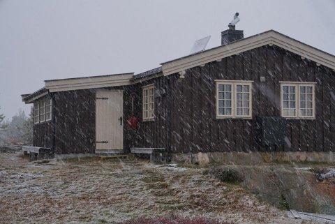 VINTER: Det er skikkelig vintervær på Blefjell i dag.