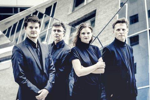 KOMMER: Oslo strykekvartett blir sentrale under konserten i Kongsberg kirke 23. januar.
