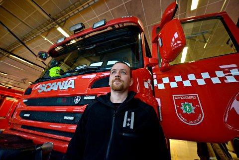 VIL HA DISKUSJON: Rune Toverud er avdelingsleder for beredskap i Kongsberg brann- og redningstjeneste. Han mener mer og mer ansvar skyves over på brannvesenet og vil ha en diskusjon om beredskapen.