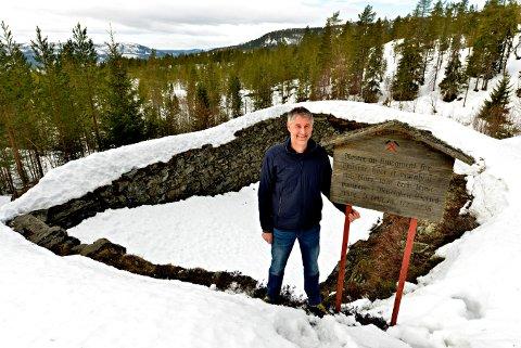 INNSPILL: Det er Øystein Skjelbred ved Statskog i Kongsberg som har presentert innspillet til kommuneplanen. Skissene er utarbeidet av Friis Arkitekter.