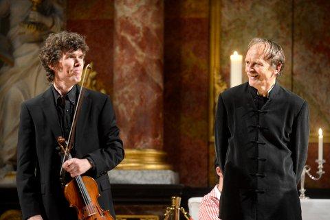 KOMMER TILBAKE: Tor Johan Bøen (t.v.) og Håkon Austbø holder konsert i Kongsberg kirke søndag 25. oktober.