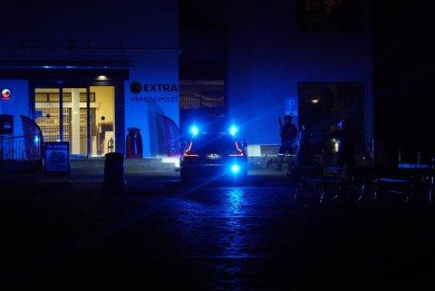 COOP VESTSIDEN: Politiet samt kommunikasjonsrådgiver for Coop Norge bekrefter at det har vært en alvorlig hendelse på Coop Myntgata i Kongsberg.  Foto: Katrine Alexandra Leirmo Heiberg