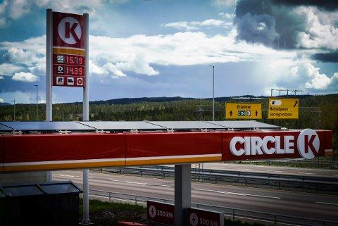 """Drømmestasjon: Circle K Kongsbergporten er en """"drømmestasjon"""", ifølge NAF."""