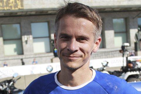 NÅDDE MÅLET: Bjørn Harald Garfjell nådde målsettingen da han fikk se totimerstallet i det som var hans niende start i Oslo Maraton.