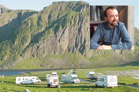 Kommuneoverlege Jan Håkon Juul i Vågan (innfelt) er bekymret for beredskapen hvis Lofoten får mye besøk i sommer.