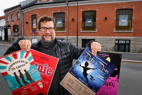 ARNESTEDET: Teaterkråkene så dagens lys i miljøet rundt Culturselskabet som hadde tilhold på Tivoli. Ole Jacob Lindberg er dagens leder for teatergruppa. 25 forestillinger har det blitt til nå.