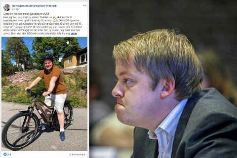 KRAFTIG IRRITERT: Erlend Wiborg ble nylig elsyklist, men kun tre dager senere var sykkelen borte.