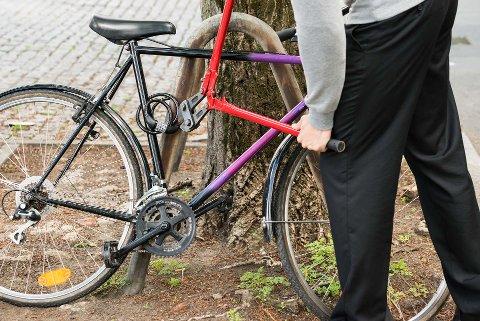 FÆRRE: Det er betydelig færre som har opplevd å få sykkelen sin stjålet hittil i år, sammenlignet med i fjor, ifølge tall fra et forsikringsselskap.