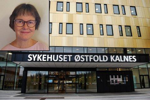 """PODKAST: Christine Mathiesen (innfelt),  leder i redaksjonen til Sykehuset Østfolds podkast """"Folk og Fag"""", synes det er spennende med en ny plattform for informasjonsformidling."""