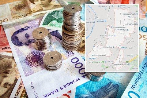 Mange rikinger: De 12 postnumrene med de rikeste innbyggerne er alle i Oslo og Bærum. På postnummer 0382 Oslo (innfelt) har nesten halvparten av innbyggerne millionformue.