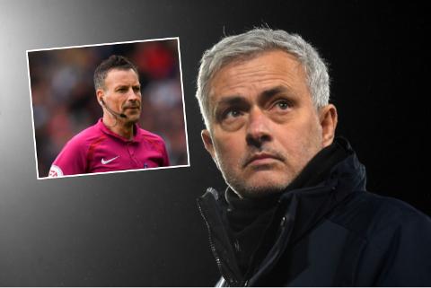 RASTE: Jose Mourinho fikk Mark Clattenburg til å se rødt etter en Premier League-kamp i 2017.