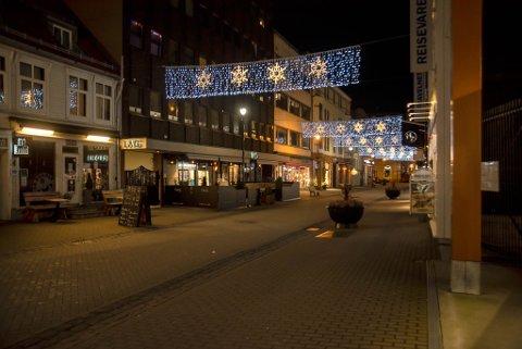 Det har vært rolig i gatene i Trondheim i jula.