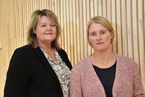 Sølvi Margrete Dahlen, avdelingsdirektør ved Nav Lerkendal, og Unni Valla Skevik, avdelingsdirektør ved Nav Falkenborg, ser på budsjettforslaget som krevende.