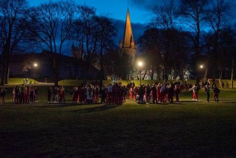 Dette bildet ble tatt natt til lørdag i Trondheim.