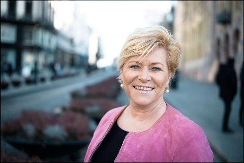 INN: Finansminister Siv Jensen fra Nordstrand er også førstekandidat for Oslo Frp.
