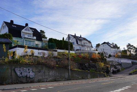 BEVARES: Bystyret har bestemt at disse eiendommene langs Ekebergveien på Holtet skal bevares til et kulturmiljø.